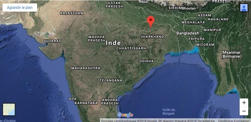 offrir une formation professionnelle pour filles en Inde carte