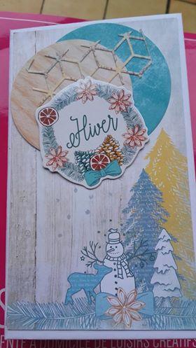 VDI loisirs creatifs carte sur le theme de hiver scrapbooking chouponline