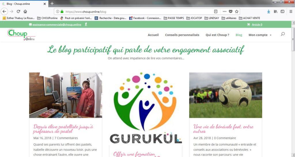 service chouponline régler un problème associatif blog