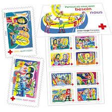 timbres solidaires aider la Croix-Rouge chouponline carnet 2