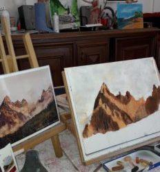 Stage de pastels secs – apprendre à dessiner les montagnes.