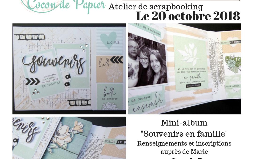 Mini-album Scrapbooking à Etréchy (91) le 20/10