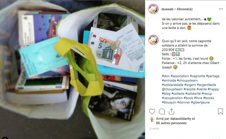 organiser une collecte de dons chouponline livres