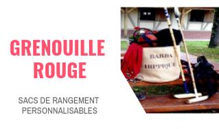 grenouille rouge sacs de rangement personnalisables pub chouponline