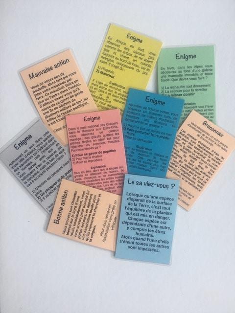 défendre une cause en créant un jeu de société chouponline carte enigme
